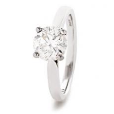 LMJ single stone diamond ring .90cts