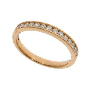 18ct RG ET Diamond Ring