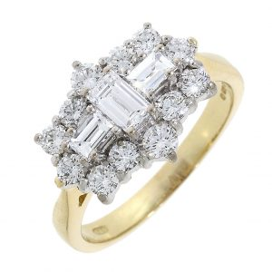 Diamond Ring with Baguette