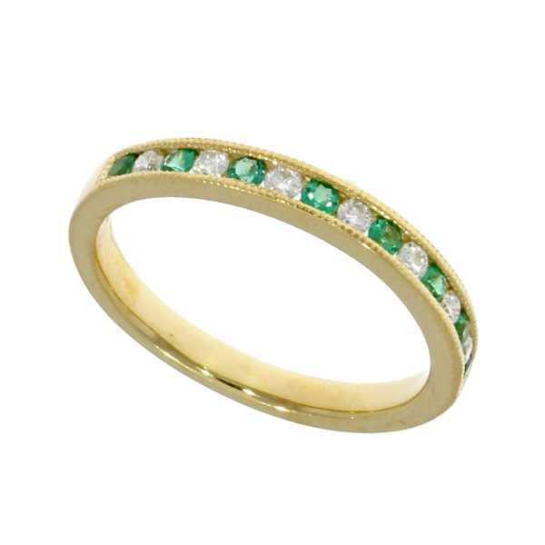 EmerLd & Diamond Ring