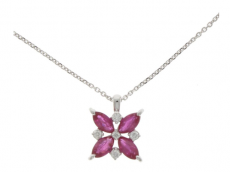 Ruby & Diamond Pendant with chain