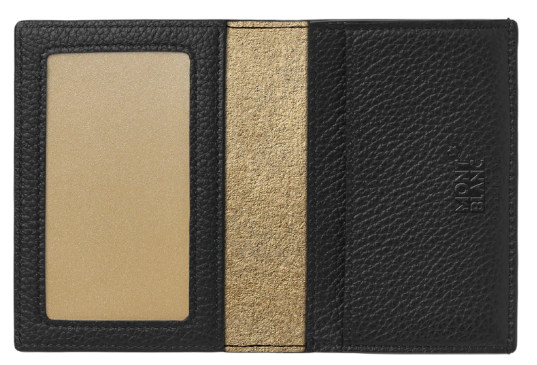 wallet gold and black