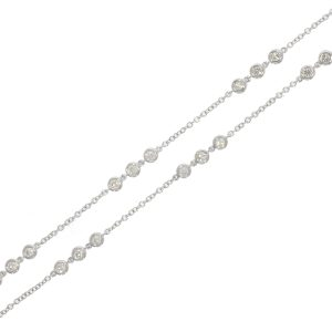 18ct WG Diamond Set Necklace