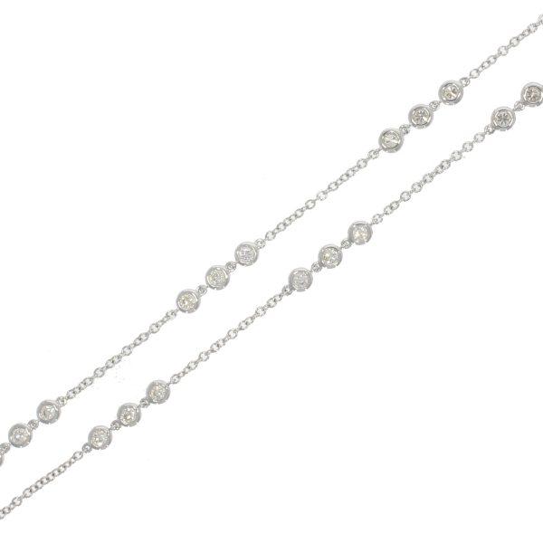 18ct WG Diamond Set Necklace