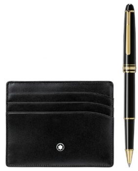 M Rollerball and Wallet Gift Set