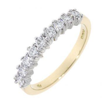 9 Stone diamond ring
