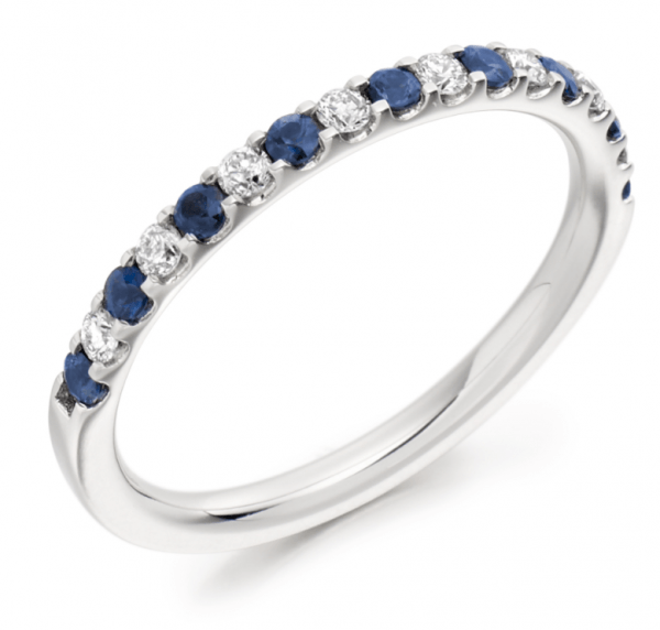 Sapphire & Diamond half