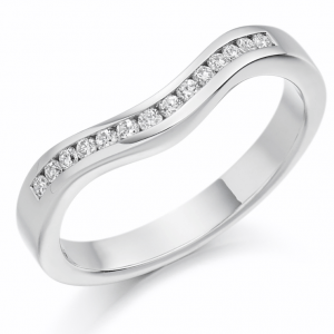Shaped Diamond Half Eternity